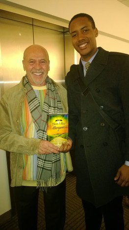 With Conrad - A true student of life at my Northeastern University class